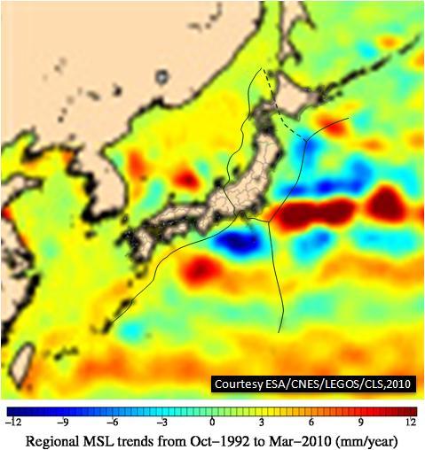 ESA海面変化JPN